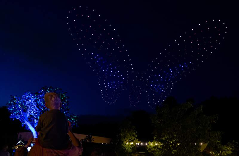Dollywood introducing drone light show as part of Summer in the Smokies