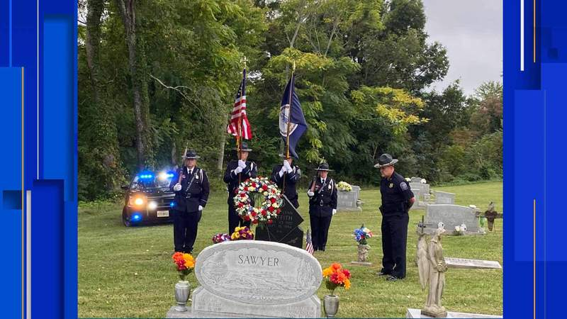 The Christiansburg Police Department came together with surrounding agencies to honor a fallen officer on Friday.