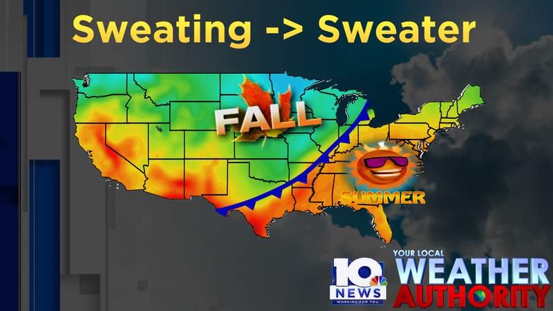 Sweating Thursday and Friday...sweaters late Saturday and Sunday
