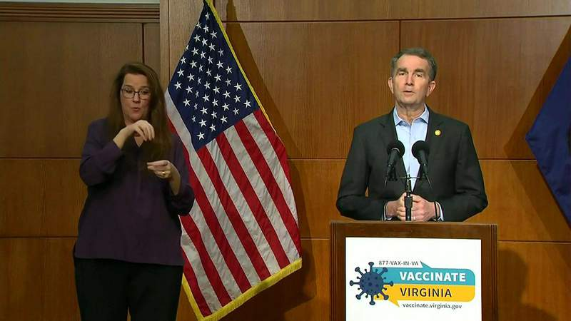 Gov. Ralph Northam giving the COVID-19 update on March 23, 2021.