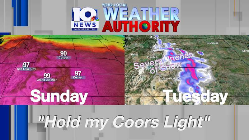 Unprecedented swing in temperatures and seasons for the Rockies