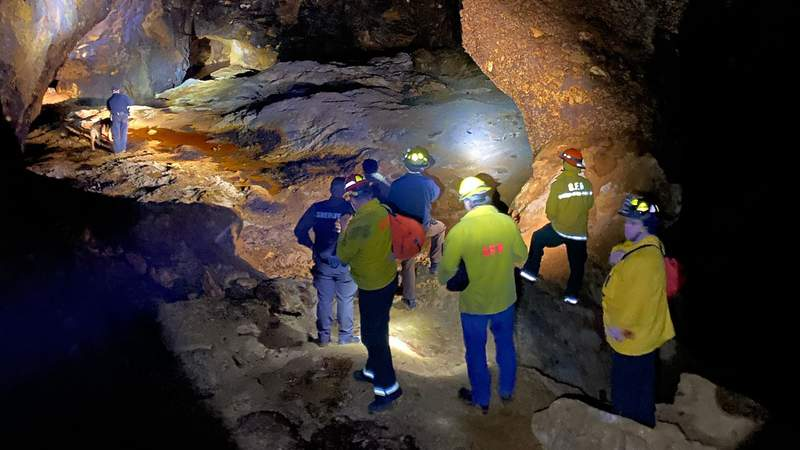 Crews rescued three hikers from a mine shaft in Galax on Monday night