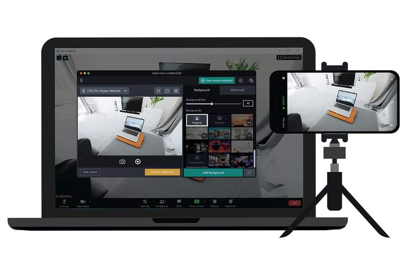 Curate a professional background for your calls with the XSplit VCam Premium software.