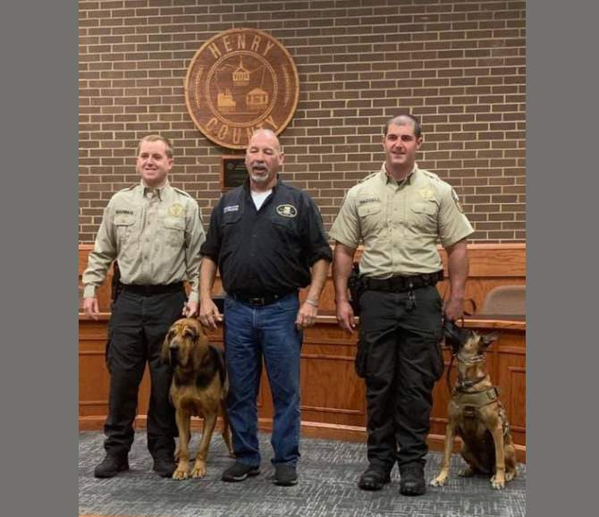 Two K9s graduated from the Henry County Sheriff's Office K9 academy.