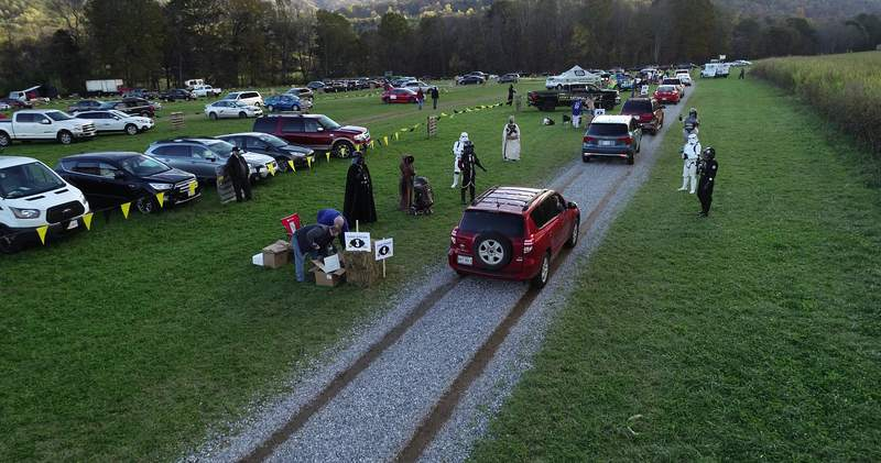 WSLS 10 socially distant trick-or-treating event at Layman Family Farms on Oct. 30, 2020.
