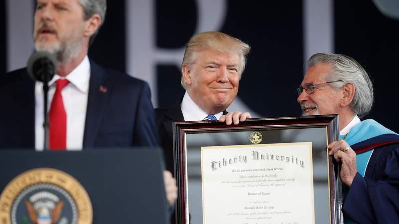 Liberty University won't rescind Trump's honorary degrees