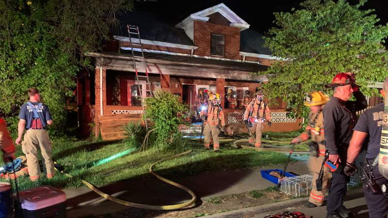 Crews responded to the 1500 block of Orange Avenue NW on Sunday, May 2, 2021, for a fire.