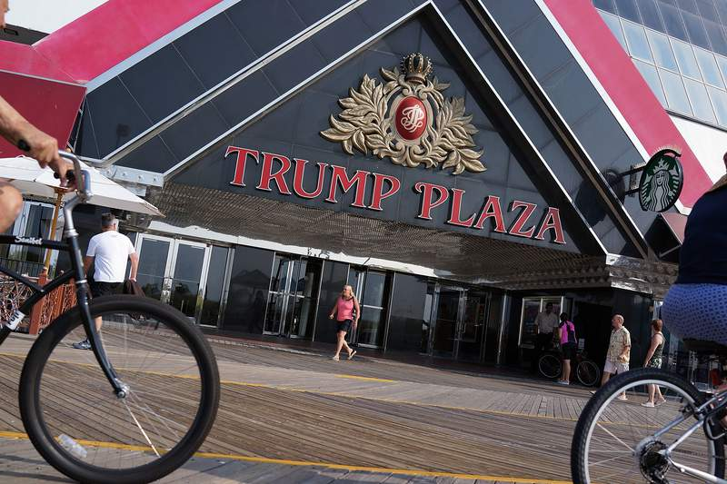 ATLANTIC CITY, NJ - JULY 30:  The Trump Plaza ,which is scheduled to close, is viewed in Atlantic City on July 30, 2014 in Atlantic City, New Jersey. Since January of 2014, four of Atlantic City's 11 casinos have announced plans to close, gone bankrupt or closed leaving thousands of residents without jobs. As neighboring cities open gambling businesses, fewer people are traveling to Atlantic City for visits to casinoes. Since 2006 Casino revenue in Atlantic City has fallen from $5.6 billion to $2.86 billion. Experts believe this is the biggest crisis Atlantic City has faced in its 36 year relationship with gambling.  (Photo by Spencer Platt/Getty Images)