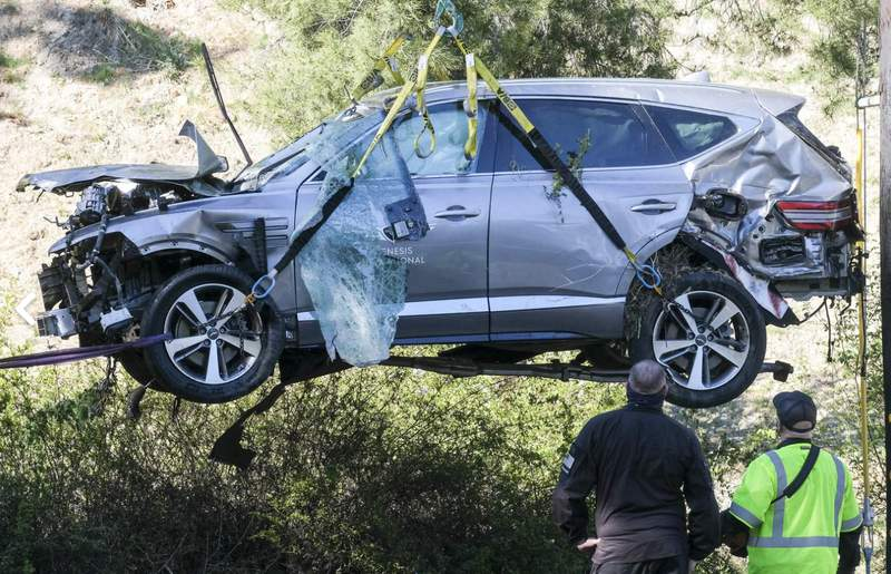 Authorities planned to announce Wednesday what caused Tiger Woods to crash an SUV in February in Southern California, a wreck that seriously injured the golf superstar.