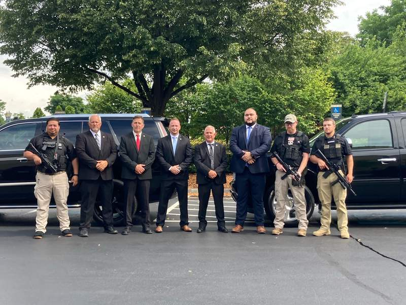 Ragone says the episode will feature local security company Executive Security Concepts staging an emergency extraction of the show host.