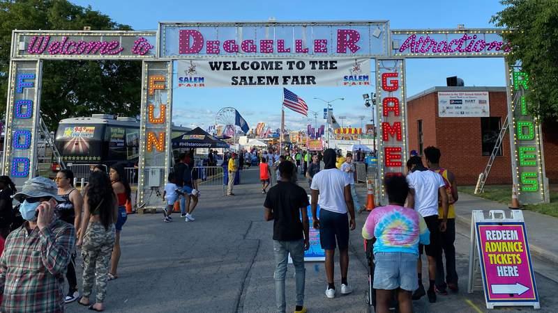 Entrance to the Salem Fair on July 3, 2021.