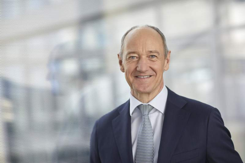 This photo provided by Siemens shows Siemens CEO Roland Busch.  As the world turns its attention to climate change, Busch says his company is well-positioned to help handle the challenges.  (Enno Kapitza/Siemens via AP)