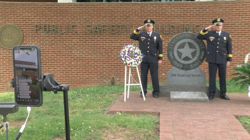 Lynchburg police pay tribute in virtual ceremony to fallen officers