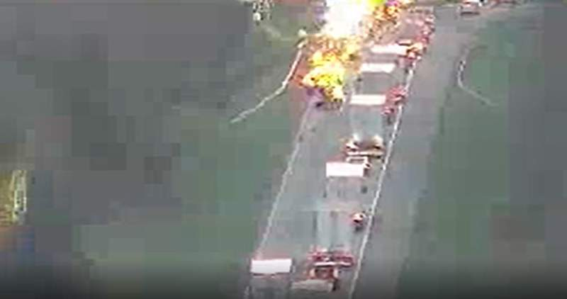 A tractor-trailer crash is causing delays on I-81 North in Rockbridge County