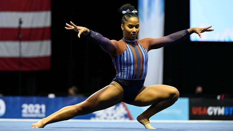 Jordan Chiles, 20, has emerged as a frontrunner to make the U.S. Olympic Gymnastics Team alongside teammate Simone Biles.