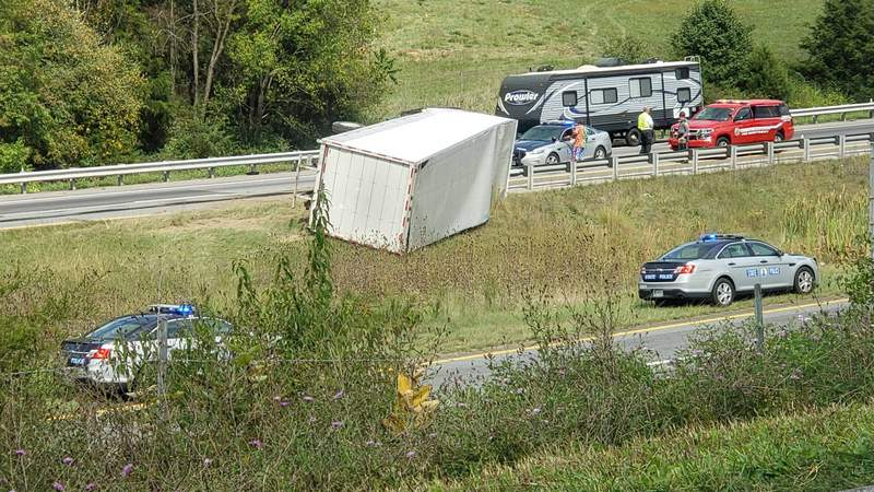 Those going south on I-81 in Montgomery County can expect delays.