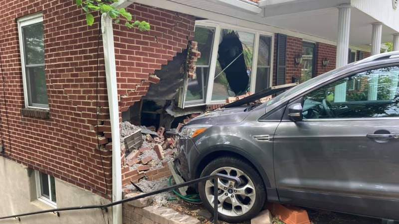 Crews responded to a crash on Sunday