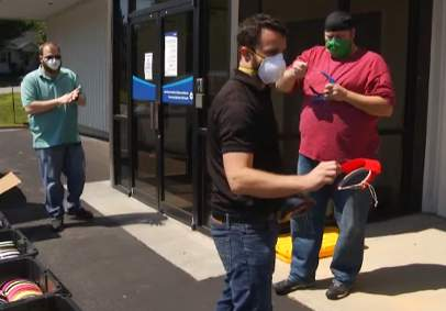 Volunteers in the Roanoke Valley 3D printed face shields, assembled the masks, and delivered them to Carilion Clinic to protect health care workers.