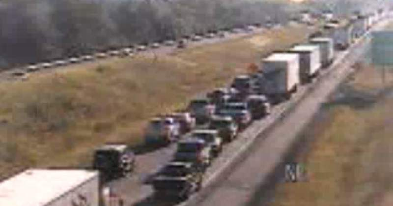 Traffic is backed up for five miles on I-81 in Montgomery County