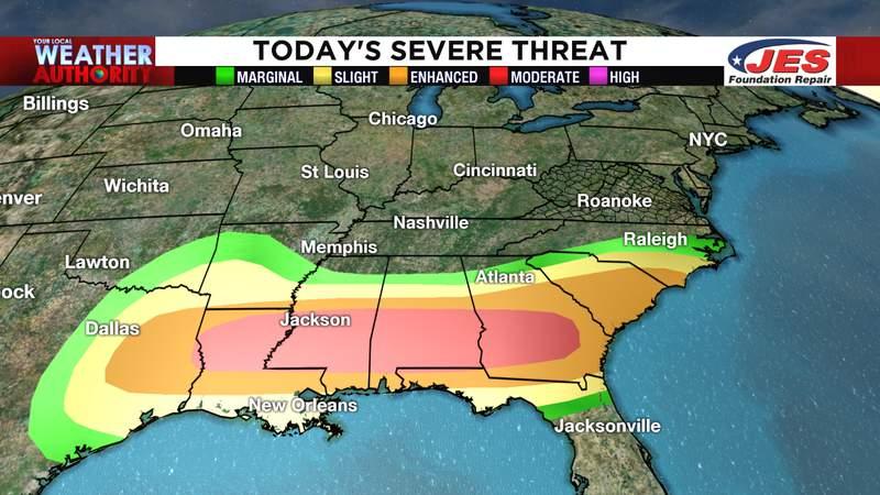 Sunday's severe weather threat (4/19/2020)