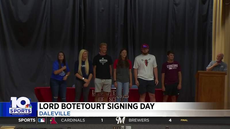 Lord Botetourt Signing Day