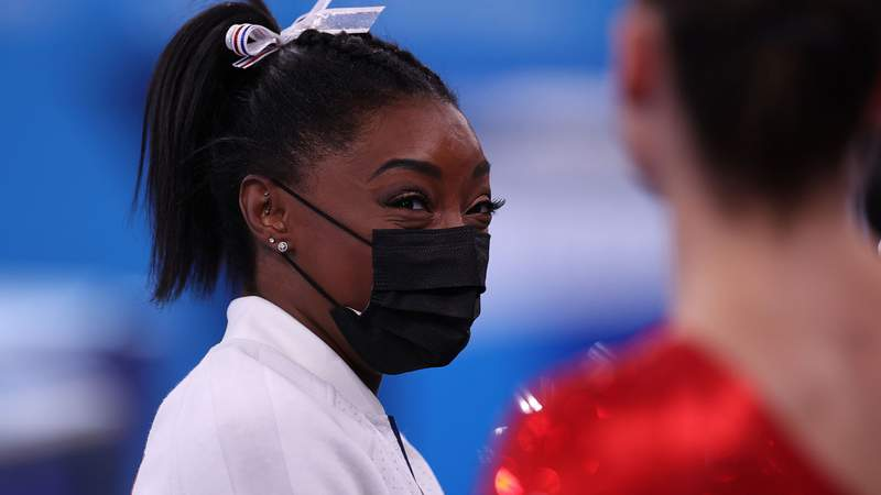 """Simone Biles said she is dealing with a """"mental"""" issue and is taking it """"day-by-day"""" when making decisions about her upcoming finals."""