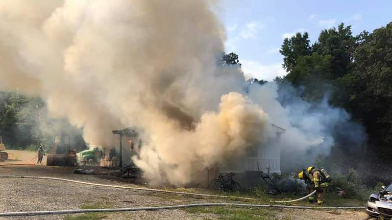 Roanoke County mobile home deemed total loss after fire