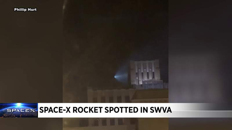 Space-X rocket in SWVA
