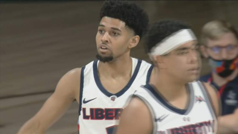 Liberty rallies from down 12 to defeat Kennesaw State.  January 8, 2021.