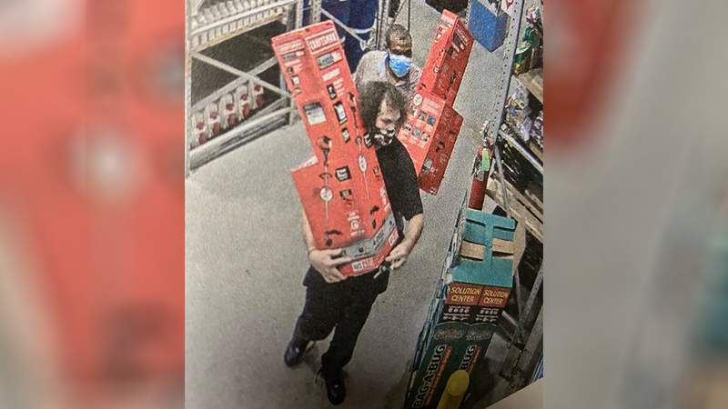 A security camera at Lowe's in Lynchburg captured this image on July 24, 2020.