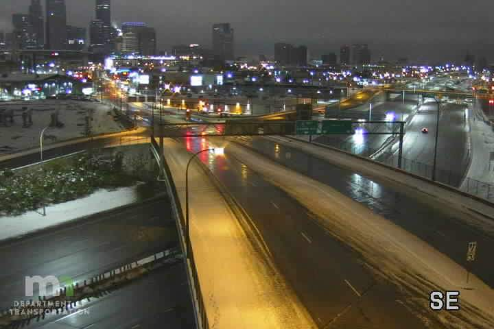 Record snow over Minneapolis on 10/20/2020