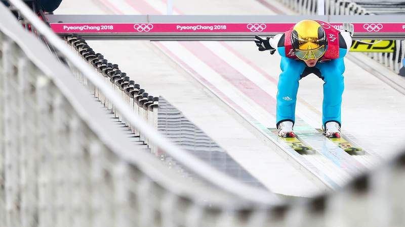 Learn the terminology of ski jumping at the Winter Olympics.