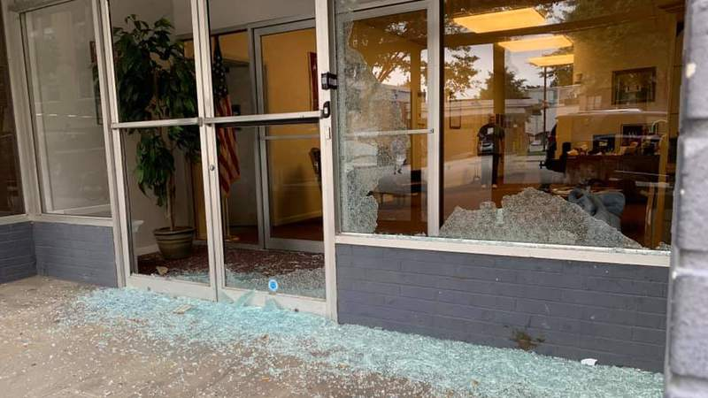 Republican Party of Virginia headquarters vandalized overnight in Richmond from Sept. 11, 2020.
