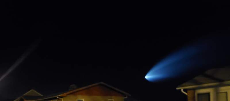 SpaceX launch as seen by Tammy Roush in Dublin