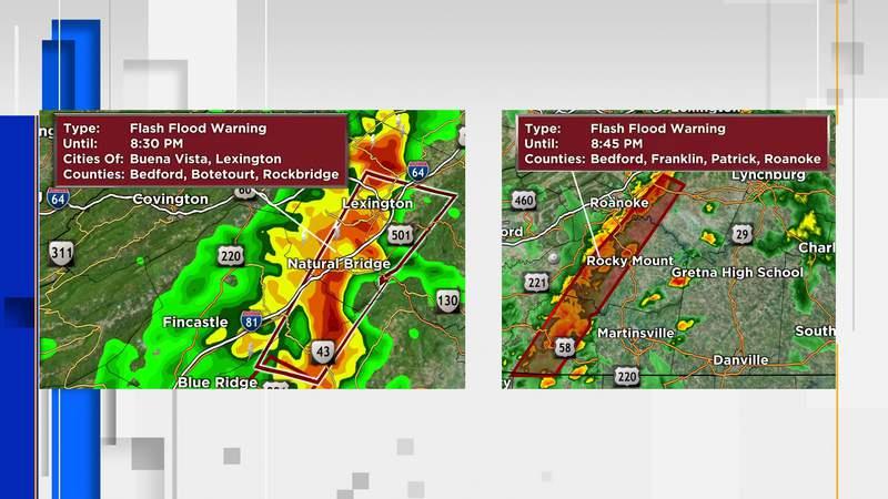 Two Flash Flood Warnings on September 22, 2021.