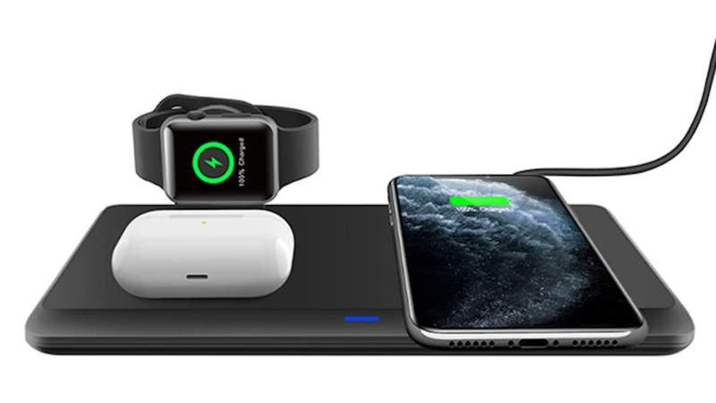 Declutter your desk with this 3-in-1 wireless charging pad