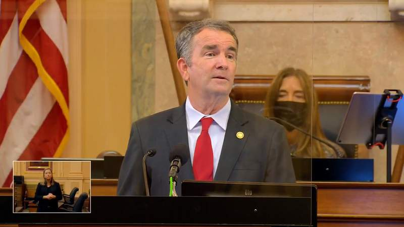 Democratic Virginia Gov. Ralph Northam outlined his plans to legalize marijuana and announced his intention to give teachers a raise Wednesday during an annual address to state lawmakers.