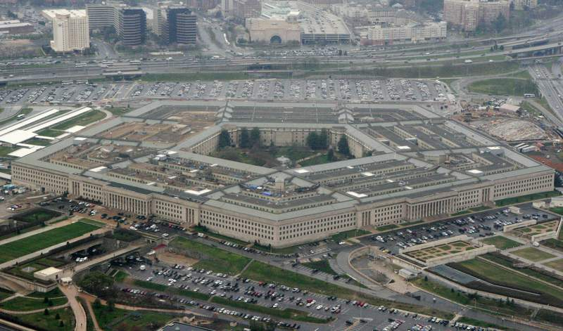 FILE - This March 27, 2008, file photo, shows the Pentagon in Washington. After weeks of wonder by the networking community, the Pentagon has now provided a very terse explanation for why it hired a shadowy company residing at a shared workspace above a Florida bank to manage a colossal, previously idle chunk of the internet that it owns. Many basic questions remain unanswered, beginning with why it chose for the task a company that seems not to have existed until September. The company, Global Resource Systems, has not responded to attempts by The Associated Press to seek comment. (AP Photo/Charles Dharapak, File)