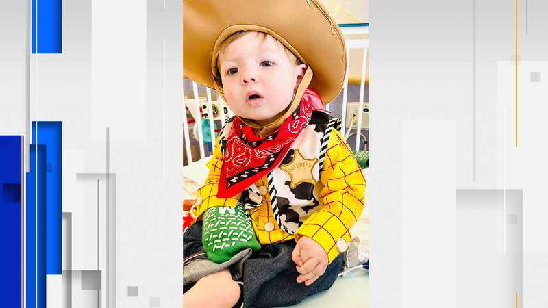 A 2-year-old Bedford boy with congenital heart disease receives a 'hero heart.'