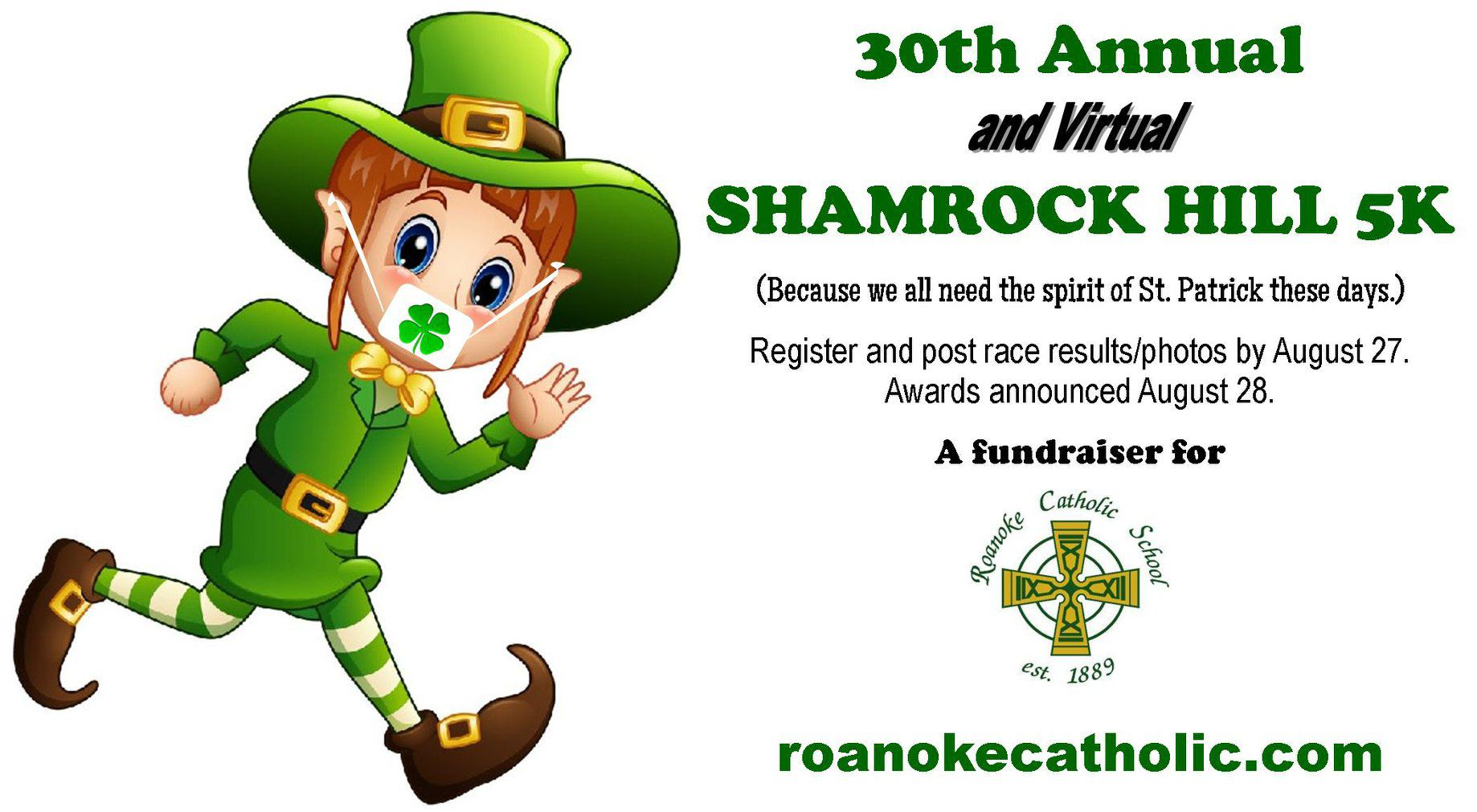 St. Patrick's Day in August: After postponed twice, Shamrock Hill 5K goes virtual