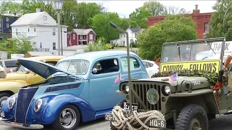 Virginia car lovers thank frontline workers