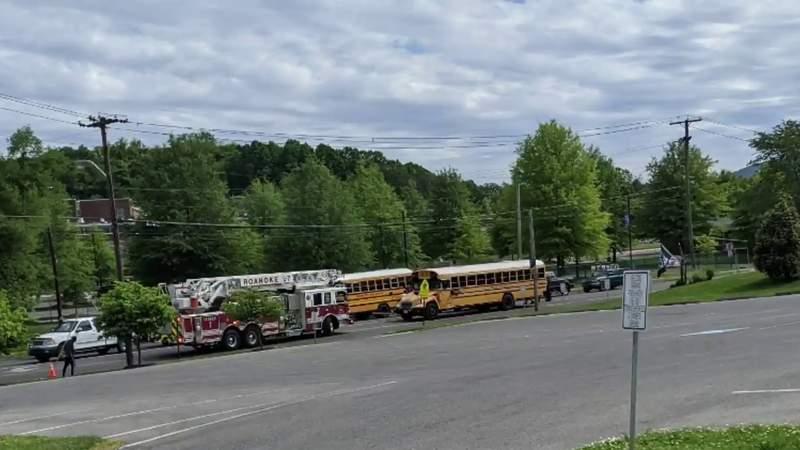 Roanoke police investigating hit-and-run crash involving a school bus near Patrick Henry High School