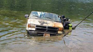 Authorities found a van belonging to a man reported missing in 2013 at the bottom of a river in Amherst County