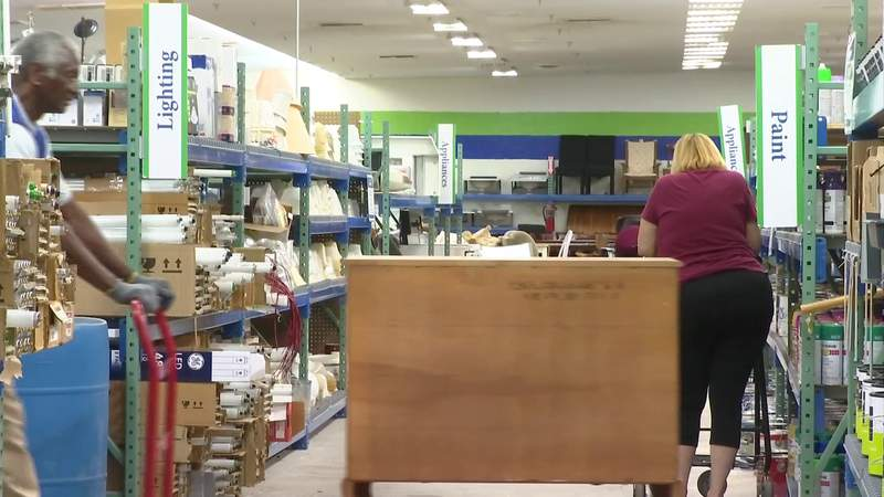 Habitat Restore bargains help build homes for families in need