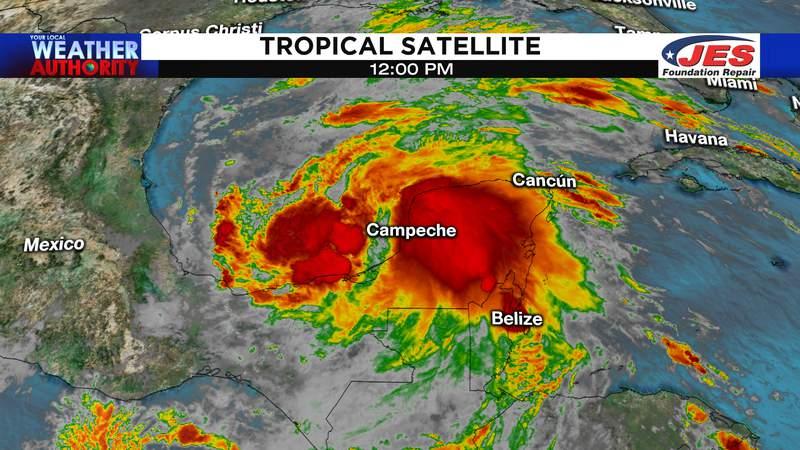 Tropical satellite 12 p.m. Tuesday