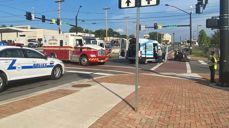 Crash on Monday, June 8, 2020, in Lynchburg, Virgina.