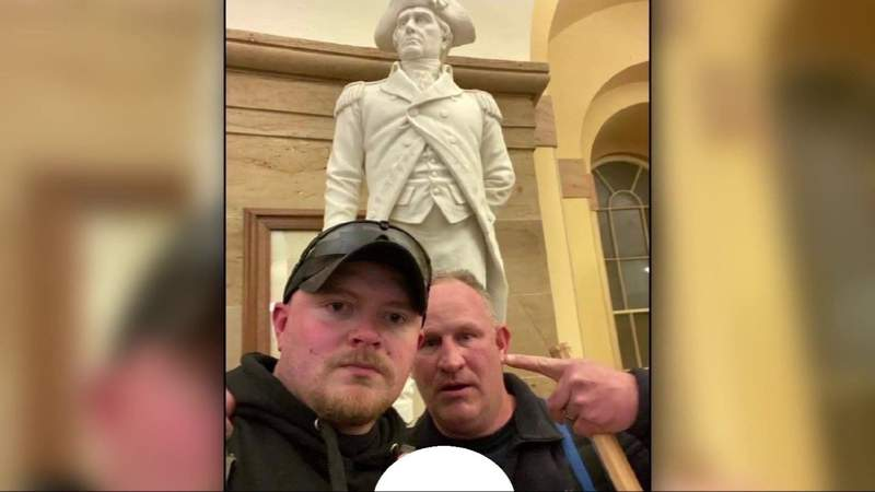 Two former Rocky Mount police officers each indicted on four federal charges connected to Capitol riots