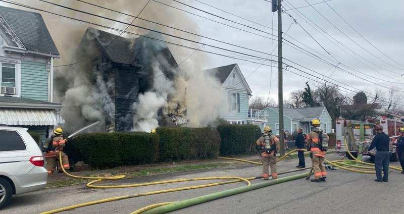 Crews are on the scene of a house fire in Northwest Roanoke