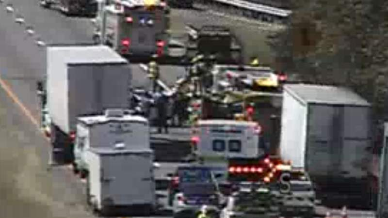 If you're headed south on I-81 in Roanoke County, expect some delays.