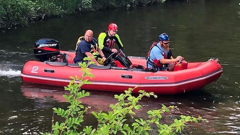 James River rescue on Sunday, May 31, 2020.